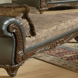 Ronalynn Chaise in San Marino Choclate - Feel yuorself like a king with this lovely chaise, from Serta Ronalinn collection. Its rich, traditional styling exudes classic elegance and will provide an unsurpassed level of comfort and styling to any living room area. Whether you're spending quiet time with family or entertaining guests, Serta Ronalinn collection will make that time more enjoyable. Come from work and stay on this beautiful chaise, is not this great? This chaise, guarantees you magnificent rest, and admiring glances of your guests.