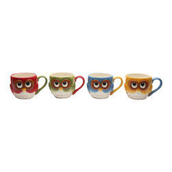 Cosmos - 4 Pc Set of Colorful and Festive Christmas Owls Looking Up Coffee Mugs - This gorgeous 4 Pc Set of Colorful and Festive Christmas Owls Looking Up Coffee Mugs has the finest details and highest quality you will find anywhere! 4 Pc Set of Colorful and Festive Christmas Owls Looking Up Coffee Mugs is truly remarkable.