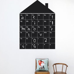 Ferm Living ABC House WallSticker - With Ferm Living WallStickers it is easy to create a new look and change the style in a room in a matter of minutes. By using WallStickers, your kids can also help decorate their own room in an array of colors.