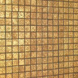 Karat - Dune - gold mosaic tile - Textured, gold mosaic tile for walls.  Find a dealer near you by contacting psmith@duneusa.com.