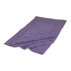 Superior Egyptian Cotton 2-Piece Royal Purple Bath Mat Set - Egyptian Cotton 2pc Royal Purple Bath Mat Set