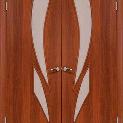 Modern Interior Doors - Sagittarius - Modern MDF Double Interior Door. Price includes door slabs and casings. Hinges and handles are separate.