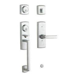 Baldwin - Baldwin Soho Two-Point Lock Handleset, Satin Chrome (85385.264.2RH) - Baldwin 85385.264.2RH Soho Two-Point Lock Handleset, Satin Chrome