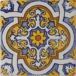 Villanueva Talavera Mexican Tile - The first thing you notice in The Little Paris Kitchen is the tile. I chose these affordable tiles to get a similar look.