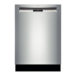 """Bosch 800 Series 24"""" Recessed Handle Dishwasher, Stainless Steel 