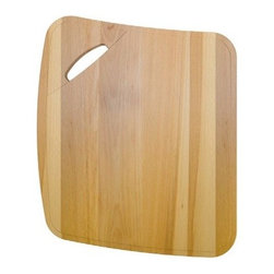 "AstraCast - AstraCast CB0114 Beech Wood Chopping Board for Alpha Kitchen Sinks - AstraCast, a division of Jacuzzi, is recognized worldwide as a market leader in the manufacture of kitchen sinks, taps and accessories, and have been manufacturing stainless steel and composite sinks for over 26 years.  Innovation, Design, and Performance are the foundation of all AstraCast products. The Alpha accessories transforms each stylish curved kitchen sink into a practical food preparation area. This stylish reversible chopping board can be used on either side of the bowl and features a carry hand hole cut out.Overall Dimensions approximately: 17 6/8"" x 14 3/8"""