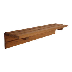 "TEAKWORKS4U - Teakworks4u Teak Shower Shelf, 18""L x 4""D x 3-1/4""H, Plantation Teak - Teakworks4u Teak Shower Shelf is wooden shelf for bathrooms. This shelf will be a fantastic   addition to the house."