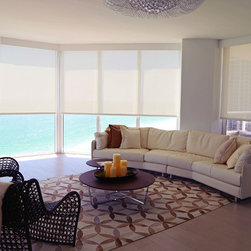 NEW!!! Roller Shade - Our beautiful roller shades. These roller shades come in a variety of sizes, colors, patterns, and darkening percentages. Condos and new modern homes are perfect for these amazing roller shade. Available on: www.shadesonlinediy.com
