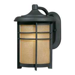 Triarch - Triarch Cfl Exterior Outdoor Medium Wall 13w Cfl Gu24 X-01-15187 - This Outdoor Wall Light is part of the Energy Saving collection. It features a hand-painted Blacksmith Bronze finish and Amber frosted glass that will compliment many outdoor decors. It comes with a 13 watt PL bulb that provides the equivalent of over 60 watts from an ordinary bulb and lasts up to 5 times as long