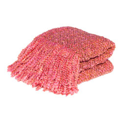 Bedford Cottage - Bedford Cottage Campbell Sorbet Throw Blanket - Sorbet PinkCozy up to the beautiful Campbell Sorbet Throw Blanket from Bedford Cottage/Kennebunk Home. This delightfully textured blanket features a soft knit that's warm and comfortable. The pink-orange hue is vibrant and girlie, while two-sided fringe adds to thick, lush feel. Curl up under it on cold nights, or pair it with aqua blue and spring green for a fresh, playful look.Two-sided fringeMade in the USA