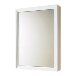 Decolav - DECOLAV Mirrored 22W x 30H in. White Surface Mount Medicine Cabinet 9730-WH - 41 - Shop for Bathroom Cabinets from Hayneedle.com! A simple frame in a minimal style the DECOLAV Mirrored 22W x 30H in. White Surface Mount Medicine Cabinet adds a contemporary flavor to any bathroom. The wooden body of this cabinet is finished in a smooth elegant white with a mirrored interior and three adjustable shelves. This cabinet can open from the left or right depending on how you choose to hang it in your bathroom.About PegasusThink Pegasus when it comes to kitchen or bath needs. Pegasus is widely known for their signature faucets unique bath accessories and furniture vanities mirrors pedestal sinks toilets and kitchen sinks. Pegasus offers special collections featuring products that coordinate with an elegant yet sophisticated style. With designs spanning from tasteful and traditional to streamlined and contemporary Pegasus provides high-quality products and fixtures for a reasonable cost and promotes the philosophy of luxury without the extravagance.