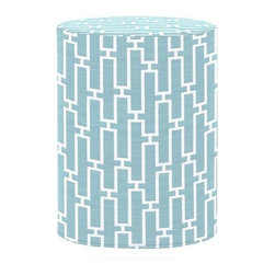 Howard Elliott Bahama Breeze Tall Cylinder Ottoman - The Tall Cylinder is constructed with a dense light-weight foam and then topped off by a soft, high quality foam making it sturdy yet comfortable. Its unique design allows weight to be distributed evenly keeping it from tipping like most foam ottomans. Another bonus? This piece is indoor/outdoor so you can take it outside!