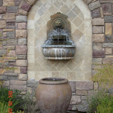 Traditional Outdoor Fountains And Ponds by Building Art