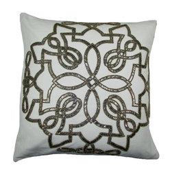 Tegel Pillow, Gold-Silver - Tegel pillow.