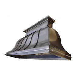"Texas Lightsmith Custom Kitchen Range Hood #25 - List price - body only; 36""W x 36""H x 24""D, custom sizes & inserts available from Texas Lightsmith"