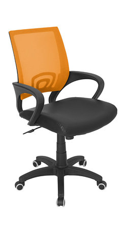 Lumisource - Officer Office Chair, Tangerine - 23 L x 19 W x 36 - 40 H