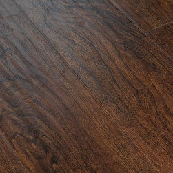 "Lamton - Lamton Laminate - 12mm Exotic Wide Plank Collection - [15.1 sq ft/box] - Samoa Walnut -    Lamton brings you top-quality, AC3-rated, CARB-ATCM - Phase 1 compliant, HDF-core laminate flooring. This line of exotic laminate floors replicates the appearance of a real hardwood floor with extra wide planks at 6 1/2"" wide and a handscraped surface.     The unique angle-click locking system makes installation quick and easy. This 12mm laminate is safe to install over radiant heat and comes with a 25 year warranty. Combine these features with an exceptionally low price point, and it is clear that Lamton Laminate is an economical choice that doesn't compromise quality."