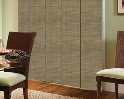 Comfortex - Comfortex Envision Panel Track Blinds: Damascus - Envision Damascus Panel Track shades provide that sophisticated designer fabric look at very comfortable price point.  Damascus fabric has the look and feel of a tightly weaved designer fabric.Comfortex Panel Tracks offer a modern alternative to standard window treatments that's perfect for patio doors, wide windows or as a room divider.
