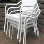 Resin Wicker Bistro Chair - Versatile and easy to clean, I can see these sitting poolside!