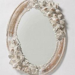 White Narcissus Mirror - This mirror is unique and romantic.