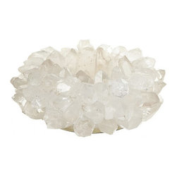 Quartz TeaLight Holder - Beautiful Quartz Tealight holder. Perfect for a dining table or coffee table for added ambiance. Mulitple pieces would look amazing at elegant dinner party