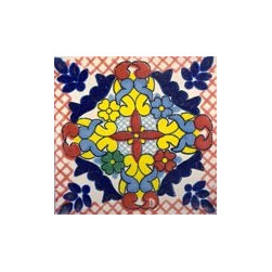 Handpainted Ceramic Grand Tile Collection - Item TG005