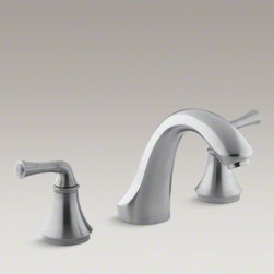 KOHLER - KOHLER Fort�(R) traditional deck-mount bath faucet trim for high-flow valve, val - With simple, traditional designs, Fort� faucets tastefully complement both classic and contemporary bathroom decor. Complete your Fort� bath with this stylish bath faucet trim featuring traditional lever handles and a classical silhouette. When paired wit