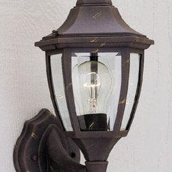 "Designers Fountain - Designers Fountain 2462-AG 1 Light 7"" Cast Aluminum Wall Lantern - Features:"