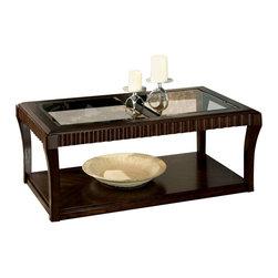 Standard Furniture - Standard Furniture Malibu Coffee Table with Casters in Dark Chocolate - Standard Furniture - Coffee Tables - 23601 - About This Product: