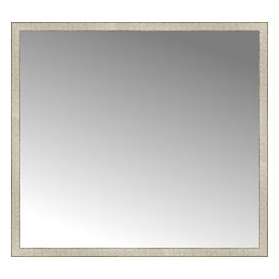 """Posters 2 Prints, LLC - 57"""" x 52"""" Libretto Antique Silver Custom Framed Mirror - 57"""" x 52"""" Custom Framed Mirror made by Posters 2 Prints. Standard glass with unrivaled selection of crafted mirror frames.  Protected with category II safety backing to keep glass fragments together should the mirror be accidentally broken.  Safe arrival guaranteed.  Made in the United States of America"""
