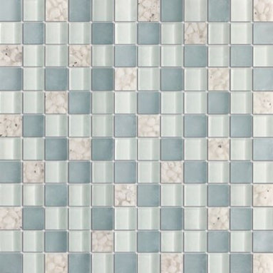 Serene Lavender Grey Glossy & Matt Square Pattern Glass Mosaic Tiles, Sheet - 1 in. x 1 in. Serene Lavender Grey Mesh-Mounted Square Pattern Glass Mosaic Tile is a great way to enhance your decor with a traditional aesthetic touch. This Glossy & Matt Mosaic Tile is constructed from durable, impervious Glass material, comes in a smooth, unglazed finish and is suitable for installation on floors, walls and countertops in commercial and residential spaces such as bathrooms and kitchens.