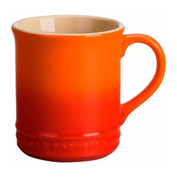 Le Creuset - Le Creuset Stoneware 12-Ounce Mug - Each piece of Le Creuset dinnerware is crafted in the same careful process as all Le Creuset stoneware with a colorful, durable exterior enamel that matches other stoneware flawlessly while protecting from utensil marks and scratches. Every plate, bowl and mug is designed to complement any collection of stoneware, and is finished with Le Creuset's signature three-ring accent along the exterior.