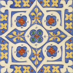 "Glass Tile Oasis - Piramide 6"" x 6"" Blue 6"" x 6"" Deco Tiles Glossy Ceramic - All ceramic tiles are hand painted. Glazed thickness will vary from tile to tile resulting in color variation. Hand-Painted Ceramic tiles will craze and crackle over time which is intentional and a desired effect."
