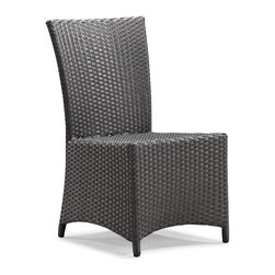 Zuo Modern - Zuo Modern Vallarta Outdoor Dining Chair X-163107 - Bring modern elegance and comfort to your outdoor seating. The Vallarta Chair is the perfect complement for any outdoor table. The Vallarta chair has an elegant shape with a solid wide seat and back that provides a gentle contour to the shape of the body. The weave is a UV treated synthetic with a re-enforced interior aluminum tube frame. Sit comfortable, feel elegant and enjoy a great company.