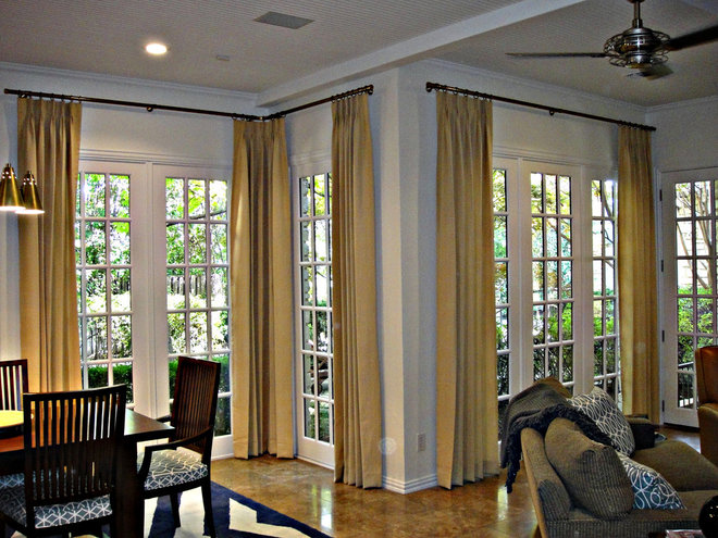 Contemporary Curtains by Kite's Interiors