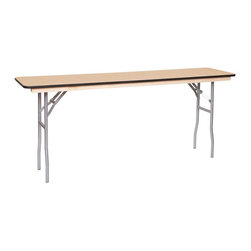 PRE Sales - Wooden Conference Table (72 in.) - Choose Size: 72 in.Birch plywood top. Rubber bull-nose. Automatic locking legs. Tested lead-free. Top and bottom with polyurethane finish. 3 years limited warranty. 72 in. L x 18 in. W. 96 in. L x 18 in. W