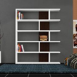 Neca Bookcase White-Wenge - Decortie