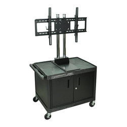 Luxor - H Wilson Flat Panel Cart - WPTV28C2E - H Wilson's WPTV28C2E The Exclusive counter-weight system provides superior stability and ensures safe movement of your TV.