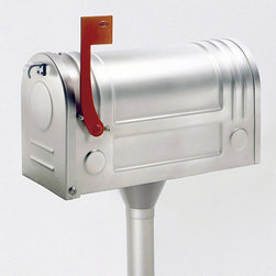 Ecco Satin Stainless Steel Mailbox - I can't decide if this is modern or traditional. This mailbox reminds me of my childhood but is so shiny and clean it's modern. It's the perfect shape for a vintage lunch box.