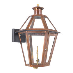 ELK - Elk Lighting Artistic 7921-WP Outdoor Gas Wall Lantern Grande Isle - Outdoor Gas Wall Lantern Grande Isle Collection In Solid Brass With AnAged CopperFinish