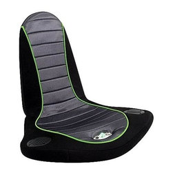 Lumisource - Battery-Powered Stingray BoomChair for Gaming - Built in 3 in. 2-Way speakers. Fully adjustable volume. Illuminated control knobs. RCA input ports. Battery powered (4 AA, not included). Rounded bottom for multi-directional tilt. Rugged canvas surface. Mesh padded comfort zone. Folds in half for convenient storage. Built in handle for easy transportation. Connects to any Audio or Video device. Audio cords included. 24 in. W x 28 in. L x 11 in. H (45 lbs.)Surround yourself in the video games, music, and movies you love with the BoomChair! Features a pair of 2.5 in. 2-way speakers, rounded bottom for multi-directional tilt, battery power for total portability, rugged canvas surface with breathable padded mesh comfort zone. Adjustable volume via illuminated power knob. Folds for convenient storage. Easily hooks up to any video game system, DVD or CD player, or any portable MP3 device.