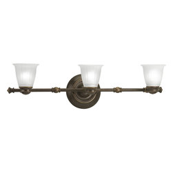 Progress Lighting - Progress Lighting P3849-77WB 3-Light Directional with Etched Ribbed Glass Shade - Progress Lighting P3849-77WB 3-Light Directional with Etched Ribbed Glass Shade