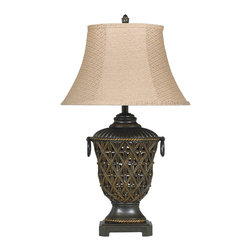"Signature Design by Ashley - 32"" Set of 2 Redella Table Lamps Bronze - Set of 2 Old World Table Lamps"