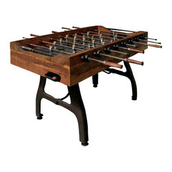 Nuevo Living - Foosball Table - Warning: It will be hard to keep the party in bounds once you welcome this old-school game. Not only rip-roaring fun, the foosball table is crafted of cast iron and reclaimed wood to look terrific in your favorite casual setting.