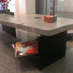 Easter Island Concrete Coffee Table - Design inspired from the ancient stone sculptures of the Pacific Easter Island.