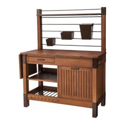 Smith & Hawken Premium Quality Potting Bench - Serious about gardening? Take it to the next level with a potting workspace. I like that this has a bunch of storage and a flip-out leaf and that it comes in pretty eucalyptus wood.