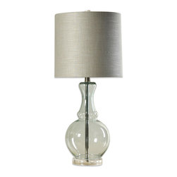 Lagos Glass and Acrylic Table Lamp - Get the look of glass without the price tag with this acrylic lamp. It adds a touch of class and will easily match the colors in your room.