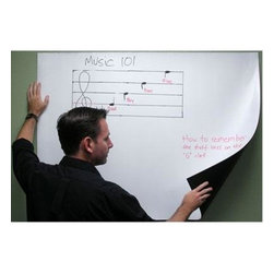 "Elite Screens - ELITE SCREENS IWB63VW Insta-DE Series Whiteboard/Projection Screen (63""; 37.5"" x - � VersaWhite(TM) 1.1 gain material;� Quickly transforms any wall or window into a combination whiteboard/projection screen;� Soft-padded dry erase white board projection screen;� Instant soft-padded dry erase screen;� Coated with scratch-resistant optical nanotech resin ;� Unique optical coating provides high diffusion uniformity & superior color reproduction;� Includes markers & erasers;� 63""; 37.5"" x 50""; 4:3"