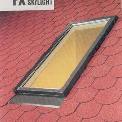 Fakro - SKYLIGHT - FX-EL - 32/55 TEMPERED GLASS FLASHING INCLUDED - FX Fixed Skylight creates a great opportunity to bring natural light in from outside and provide great looks for any room in the house. FX skylight is specially designed to give the user trouble-free preformance for years. Full range of flashings allows to install the skylights with all roofing materials. Additional accessories combine both decorative appearance and functionality in everyday applications. It is a great solution for places with high ceillings, where any extra source of lighting is valuable, and where ventilation system is working properly
