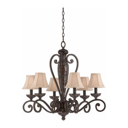 Triarch International - Triarch 31443 Jewelry Harvest Bronze 6 Light Chandelier - Triarch 31443 Jewelry Harvest Bronze 6 Light Chandelier